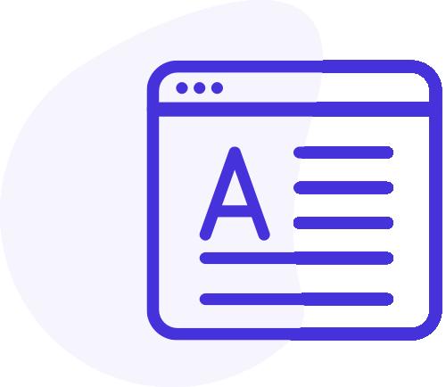 Font content icon